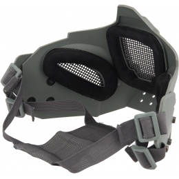 WoSport Adjustable Retro Mecha Half Face Mask - GRAY