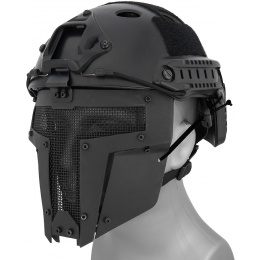 WoSport Adjustable T-Shaped Mesh Full Face Mask - BLACK