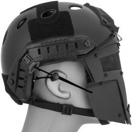 WoSport Adjustable T-Shaped Mesh Full Face Mask - BLACK