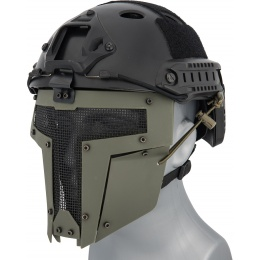 WoSport Adjustable T-Shaped Mesh Full Face Mask - OD GREEN