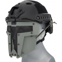 WoSport Adjustable T-Shaped Mesh Full Face Mask - GRAY