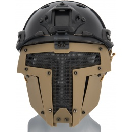 WoSport Adjustable T-Shaped Mesh Full Face Mask - TAN