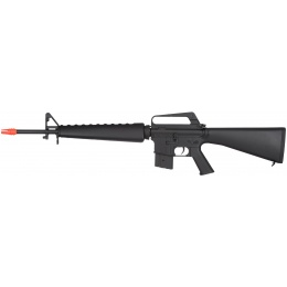 JG Full Size M16A1 Vietnam Airsoft AEG Rifle - BLACK