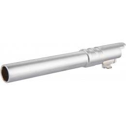 Double Bell Smooth 5-Inch M1911 Airsoft Pistol Barrel - SILVER