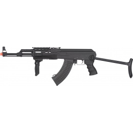 JG AK-47S Tactical Quad Rail AEG Rifle w/ Folding Grip - BLACK
