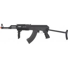 JG AK-47S Tactical Quad Rail AEG Rifle w/ Folding Grip - BLACK