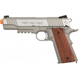 Cybergun Airsoft 1911 Colt Rail Gun CO2 Blowback Pistol - SILVER