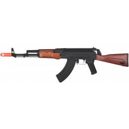 JG AK-47 Full Stock Metal Electric Blowback AEG Rifle - BLACK