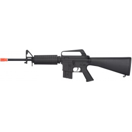 JG Full Stock Metal M4 Carbine Airsoft AEG Rifle - BLACK