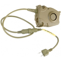 AMA Tactical Airsoft PTT Peltor U94 for ICOM/MIDLAND - DARK EARTH