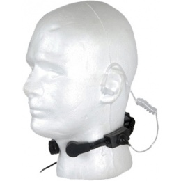 AMA Low Profile Special Forces Throat Microphone - BLACK