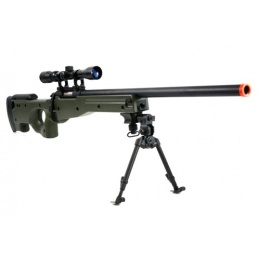 AGM MK96 Bolt Action Sniper Rifle w/ 3-9x Scope and Bipod - OD GREEN