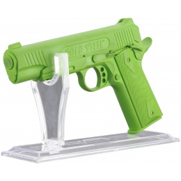 Double Bell Transparent Polymer Pistol Lightweight Display Stand