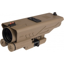 NcStar DELTA 4X30 Sniper Reticle Scope w/ Nav LED - TAN