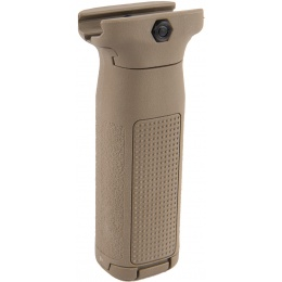 PTS EPF2 20mm Picatinny Vertical Foregrip w/ Storage (LONG) - TAN