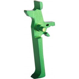 Retro Arms Anodized Aluminum Trigger for AR15 Series -  GREEN (Type C)
