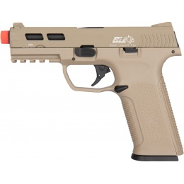 ICS XAE Adjustable Hop Up Gas Blowback Airsoft Pistol - TAN