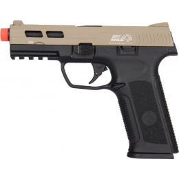 ICS XAE Adjustable Hop Up Gas Blowback Airsoft Pistol - BLACK/TAN