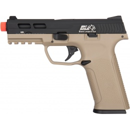 ICS XAE Adjustable Hop Up Gas Blowback Airsoft Pistol - TAN/BLACK