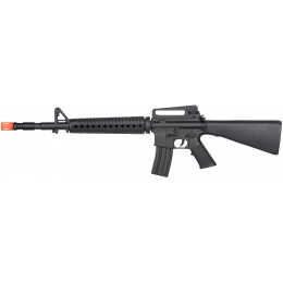 UK Arms M16 Polymer Full Stock Airsoft Spring Rifle - BLACK