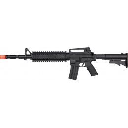 UK Arms M4 Polymer Quad Picatinny Spring Rifle - BLACK
