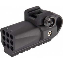 The HFC Compact Picatinny Rail Mounted Grenade Launcher - BLACK