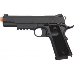 Double Bell Gas Blowback CQB 1911 Tactical Airsoft Pistol - BLACK