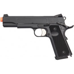 Double Bell Gas Blowback Textured Metal M1911 Airsoft Pistol - BLACK