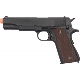 Double Bell M1911 Polymer Slide Gas Blowback Airsoft Pistol - BLACK
