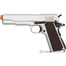 Double Bell M1911 GBB Airsoft Pistol Type 1 (Low Velocity) - SILVER