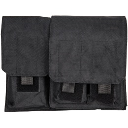 Double Bell Temperature Control Airsoft Magazine Pouch - BLACK