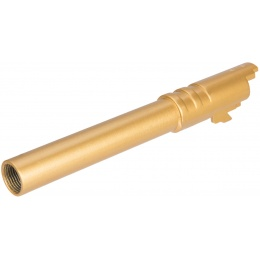 Double Bell Smooth 5-Inch Threaded M1911 Airsoft Pistol Barrel - GOLD