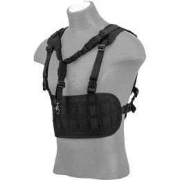 Lancer Tactical Laser Cut Airsoft Chest Rig w/ Sling - BLACK