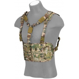Lancer Tactical Laser Cut Airsoft Chest Rig w/ Sling - CAMO