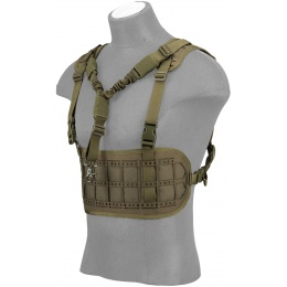 Lancer Tactical Laser Cut Airsoft Chest Rig w/ Sling - OD GREEN