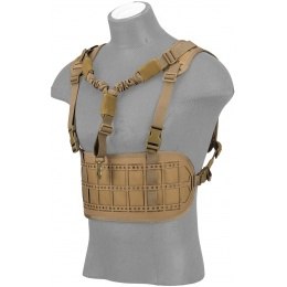 Lancer Tactical Laser Cut Airsoft Chest Rig w/ Sling - TAN