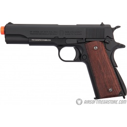 G&G Full Metal GPM1911 Gas Blowback Airsoft 1911A1 Pistol - BLACK