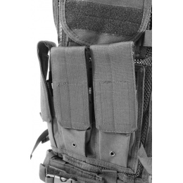 NcStar Military Cross Draw Tactical Vest w/ Integrated Holster
