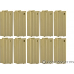 ARES 10 Pack 20 Round Low Capacity Airsoft M4/M16 Magazines - DARK EARTH