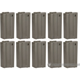ARES 10 Pack 20 Round Low Capacity Airsoft M4/M16 Magazines - GRAY