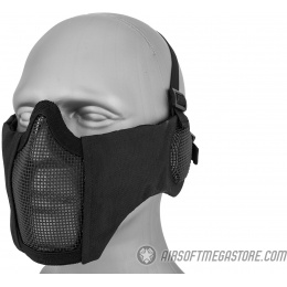 WoSport Tactical Elite Face and Ear Protective Mask - BLACK