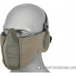 WoSport Tactical Elite Face and Ear Protective Mask - GRAY