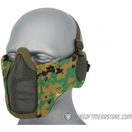 WoSport Tactical Elite Face and Ear Protective Mask - WOODLAND DIGITAL