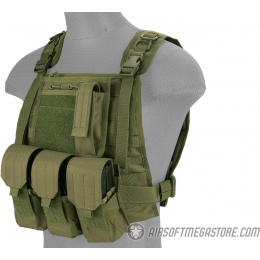 Lancer Tactical Nylon MOLLE Plate Carrier Vest - OD
