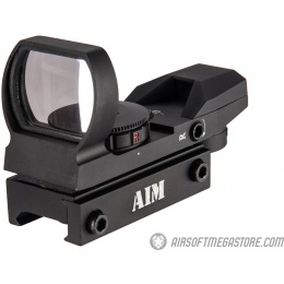 AIM Sports RT4-03 1X34mm Airsoft Reflex Sight - BLACK