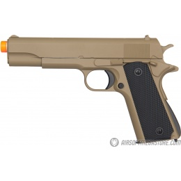 Golden Eagle M1911 Airsoft Spring Pistol w/ Metal Slide - TAN