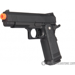Golden Hawk Spring Airsoft Hi Capa Pistol w/ Metal Slide - BLACK