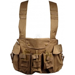 NcStar Tactical 6 Pocket AK Chest Rig - TAN