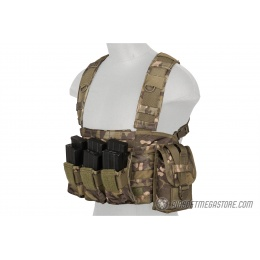 Lancer Tactical 1000D Nylon M4 MOLLE Modular Chest Rig - CAMO TROPIC