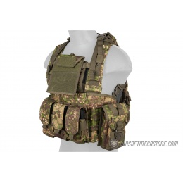 Lancer Tactical 1000D Nylon MOLLE Modular Chest Rig - PC GREEN
